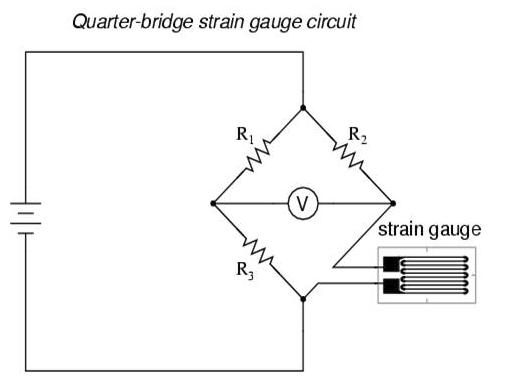 应变式压力传感器电路图